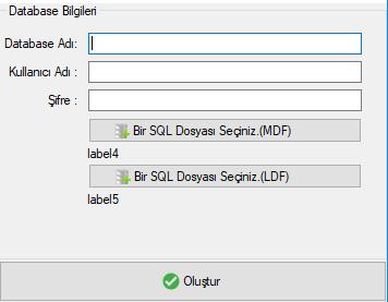 C# ile MSSQL Database Oluşturma