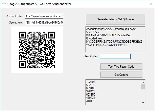 C# ile Google Authenticator / Two Factor Authenticator Kullanımı